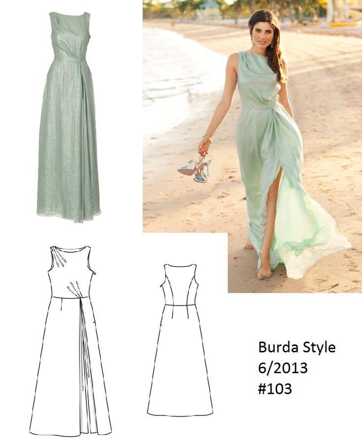 Burda Style Slitted dress 6/2013 #103