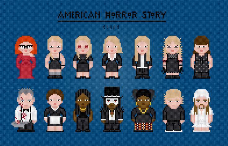 American Horror Story. Coven - PixelPower - Amazing Cross-Stitch Patterns