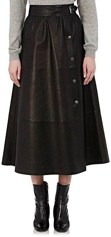 Maison Margiela Women's Leather A-Line Skirt