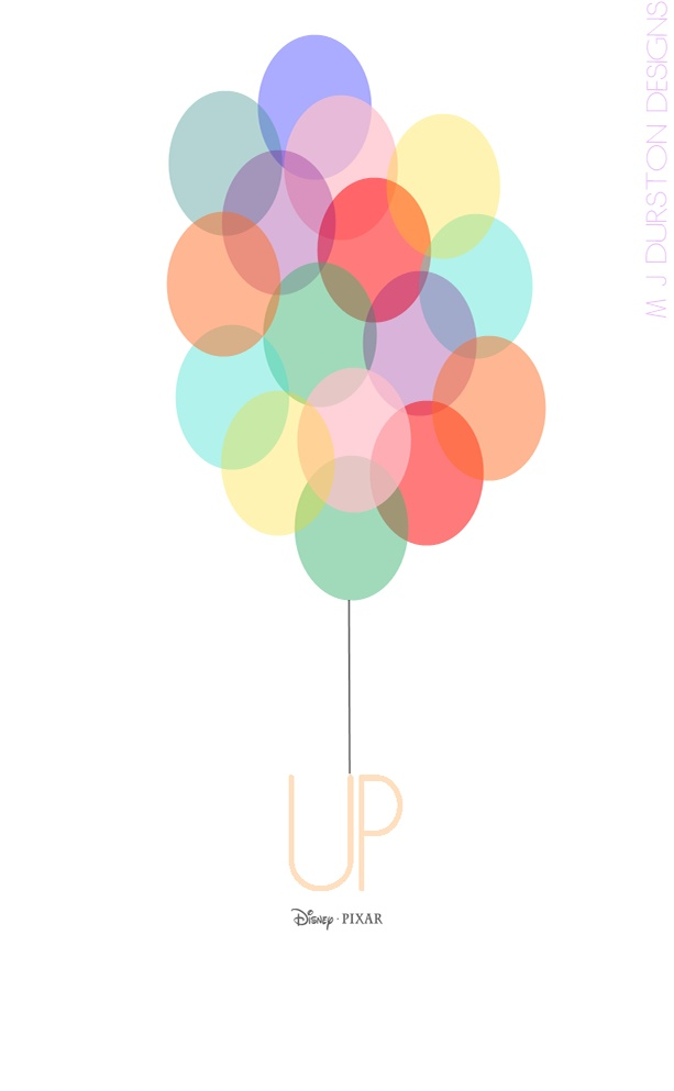 Minimalist 'UP' Movie Poster, done by Melissa Jacques-Durston