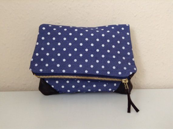 Fold over zipper clutch by orshie on Etsy, €20.00