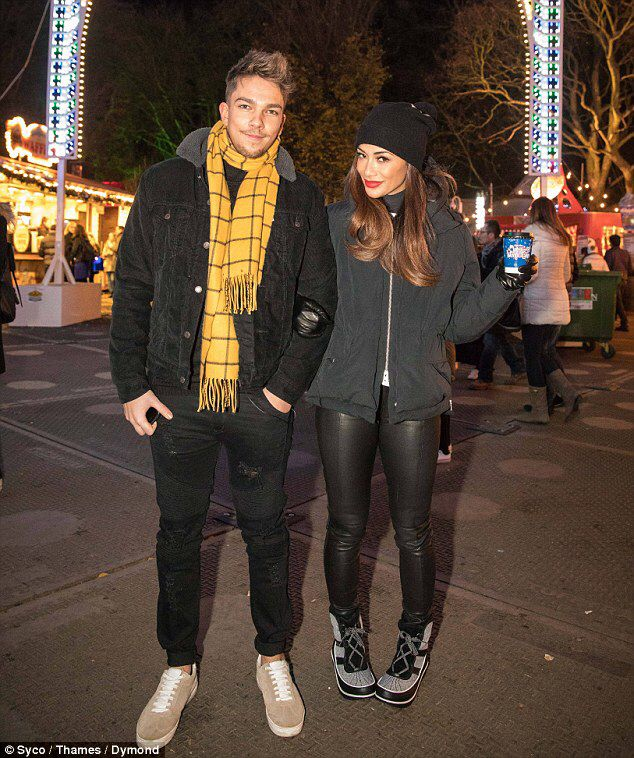 Nicole Scherzinger enjoys Winter Wonderland with X Factor's Matt Terry #dailymail