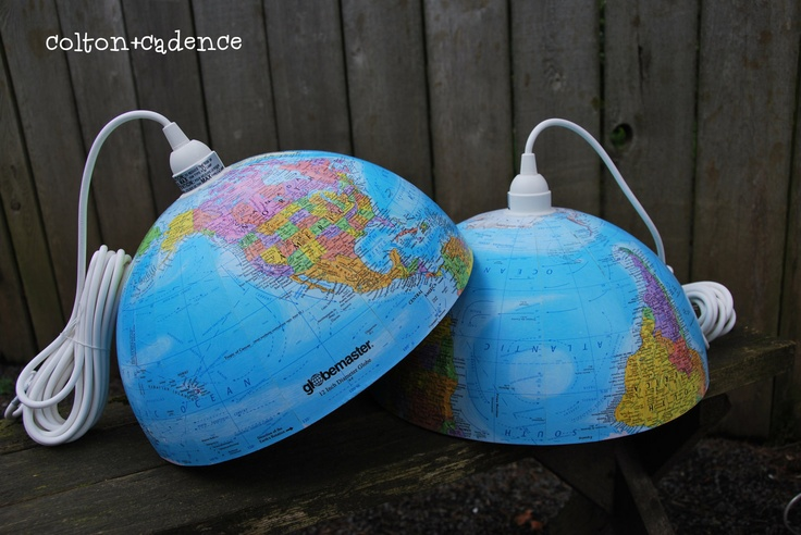 Yep, love it.  Where should I put it?: Pendants Lamps, Kids Stuff, Rooms Theme, Fun Ideas, Pendants Lights, Great Ideas, Vintage Globes, Globes Pendants, Kids Rooms