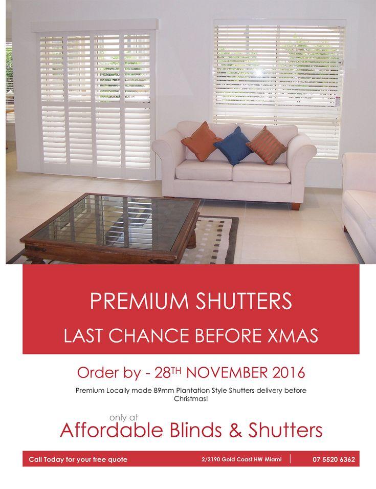 Gold Coast Christmas Shutters Special - http://affordableblindsandshutters.com.au/news/gold-coast-christmas-shutters-special/