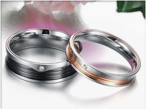 Cincin couple titanium anti pudar, high class, high material, n high quality..