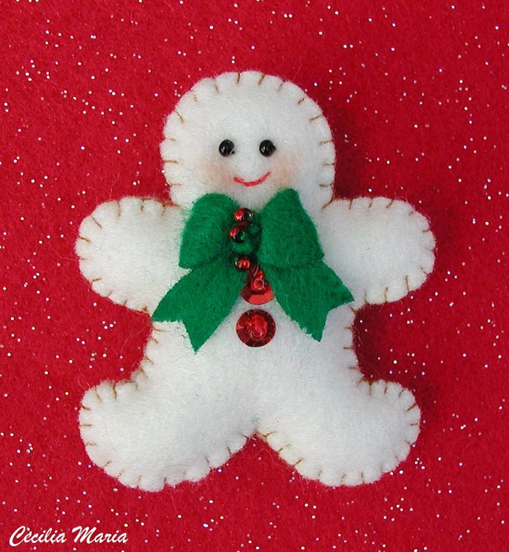 Gingerbread shaped snowman - I like it!