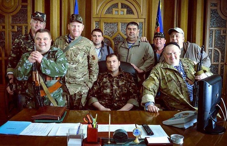 """Руководство """"Луганской народной республики"""". Валерий Болотов - в центре. Фото: inforesist.org"""