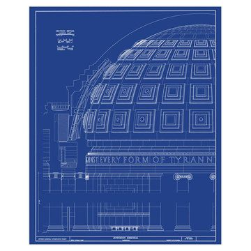 9 best blueprints images on pinterest art sketches crossword and jefferson memorial dome by old blueprints malvernweather Gallery