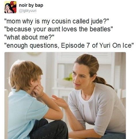 lmao I'm dead this is too much  #anime #yurionice #victuri