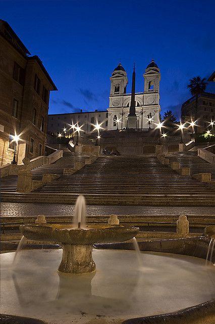 Blue Hour at Trinità dei Montiand, The Spanish Steps - Piazza di Spagna, Rome