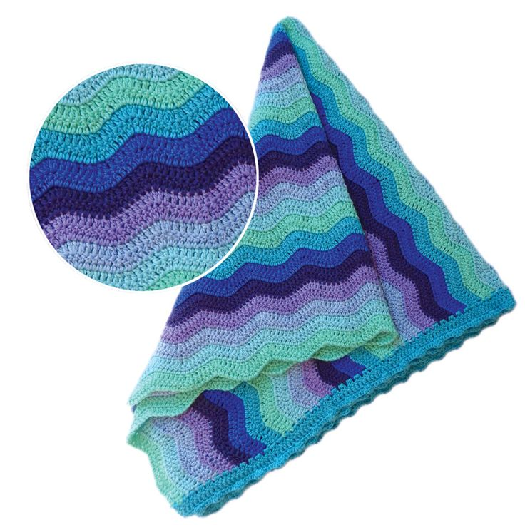 These divine crochet OB Designs Sky Ripple Blankets are super soft and perfect for your little one to snuggle with. Crochet and made from 60% cotton, 30% Azlon Milk Fiber, 10% cashmere in a generous 100cm by 100cm.