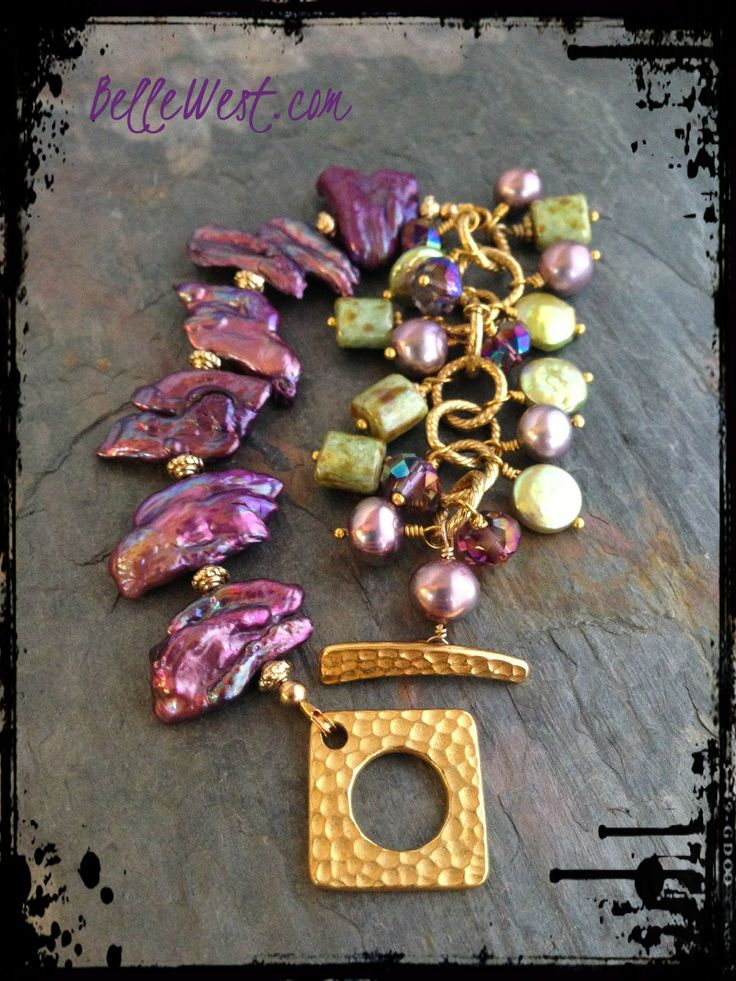 ❥ Belle West Purple Fantasy Charm Bracelet~ donated to the Robin Sullins Relief Fund Art Auction {Robin lost both legs at the knee and all her fingers from a rare infection from a dog bite on Christmas day. Read my blog post to see how you can help.} www.BelleWest.com