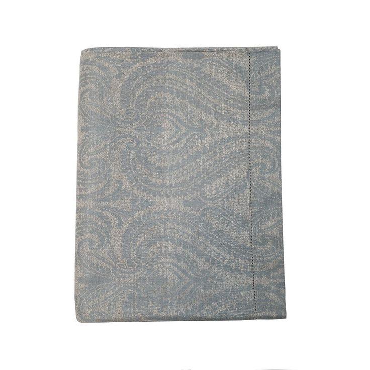 "Linen Way 'Soprano' 67x98"" Tablecloth, Blue/Ash – HOPSON GRACE"