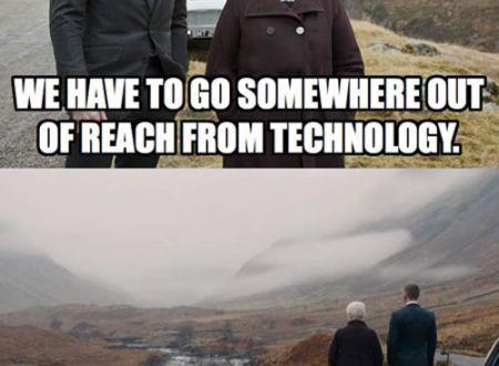 Put of reach from technology meme