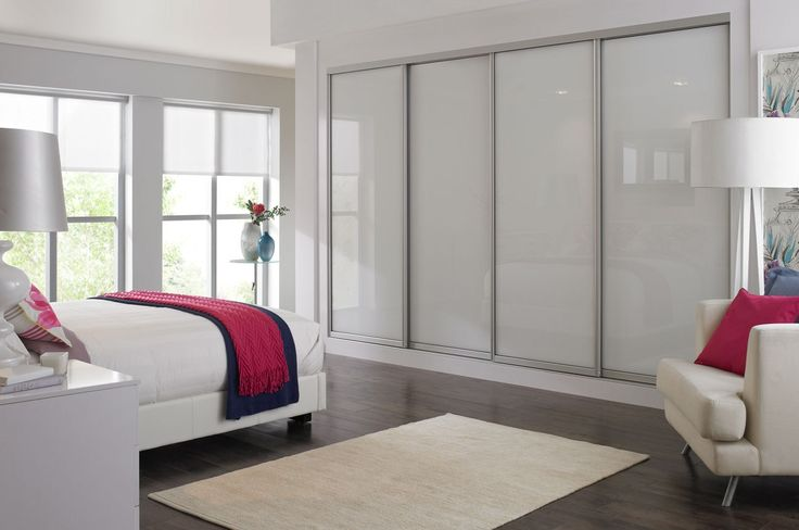 Sliding Wardrobes White Glass