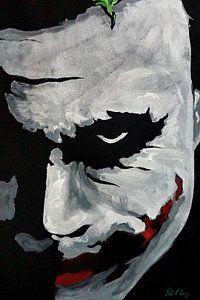 Joker Painting - Ledger's Joker by Dale Loos Jr