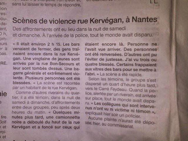 Action antifasciste Nantes: Nantes 1er novembre :  L'extrême droite complice d...