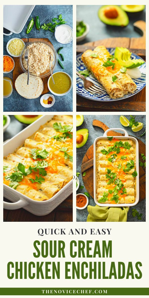 Sour Cream Chicken Enchiladas With Homemade White Sauce Recipe In 2020 Homemade White Sauce Healthy Freezer Meals Delicious Healthy Recipes