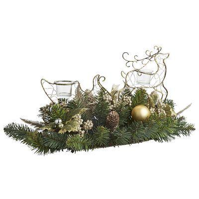 Reindeer Sleigh Tealight Centerpiece from Pier1