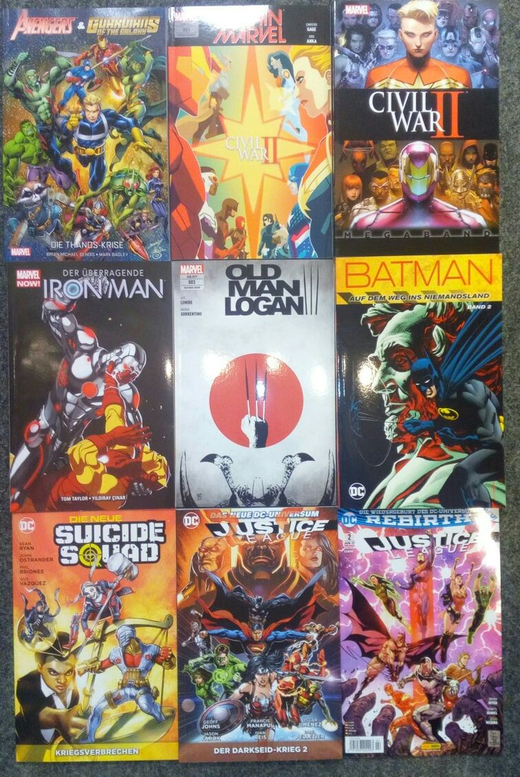 Die neuen Panini Comics sind da. Avengers & Guardians of the Galaxy  Captain Marvel  #2 Civil War II Megaband Iron Man TPB #1 Old Man Logan #3 Batman - Weg ins Niemandsland #2 Die neue Suicide Squad #3 Justice League TPB #11 Justice League #2