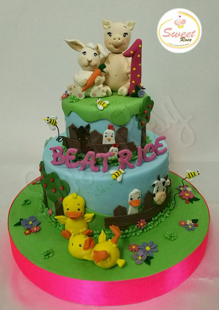 #cake #fattoria #animali #cake design #modelling