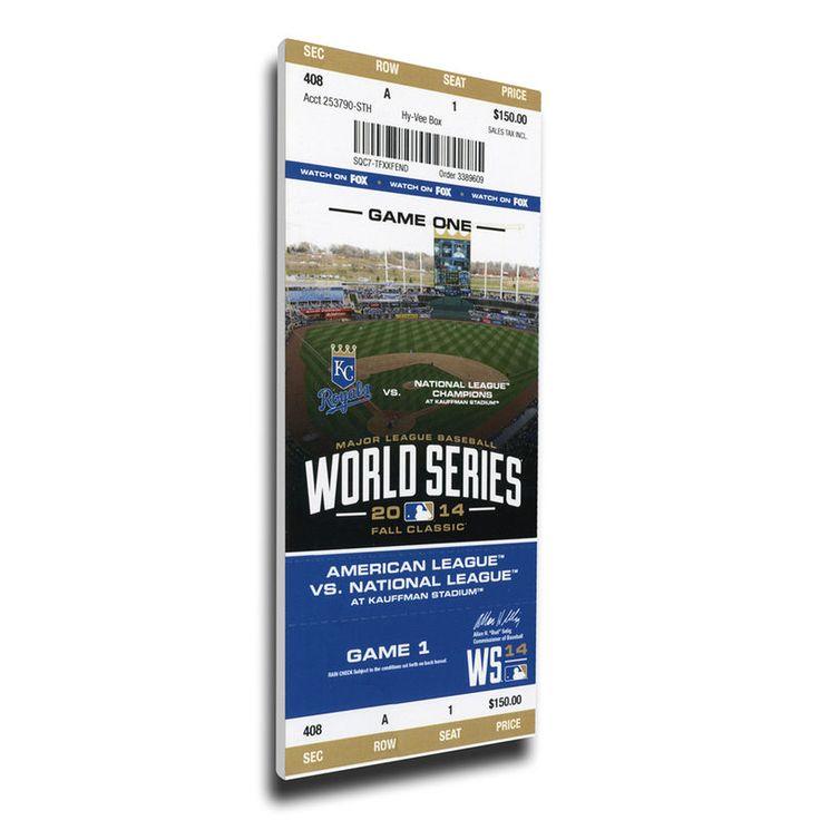 Kansas City Royals 2014 World Series Game One Mega Ticket