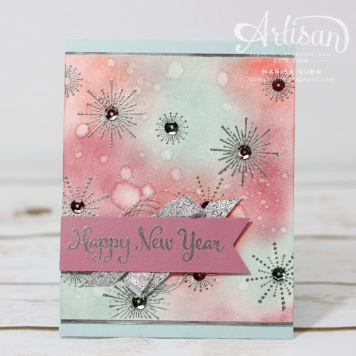 Happy New Year's cards featuring the It's a Celebration Stamp Set from Stampin' Up by Marisa Gunn.