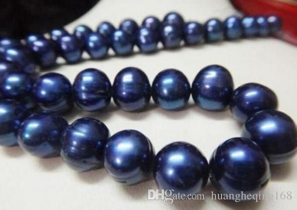 Cheap pearl necklace, Buy Quality necklace chokers directly from China choker blue Suppliers: Charming 11-13mm south sea blue pearl necklace 18 inch choker