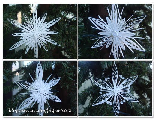 Claire's paper craft: How to make snowflake- tutorial