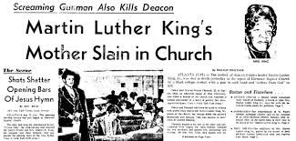 "His mother, Alberta Williams King, was murdered. She was killed while attending the ebenezer baptist church in Atlanta in 1974 by a 23 year old man, Marcus Wayne Chenault, who believed ""all Christians are my enemies"". He shot and killed her while she was playing organ at the church."