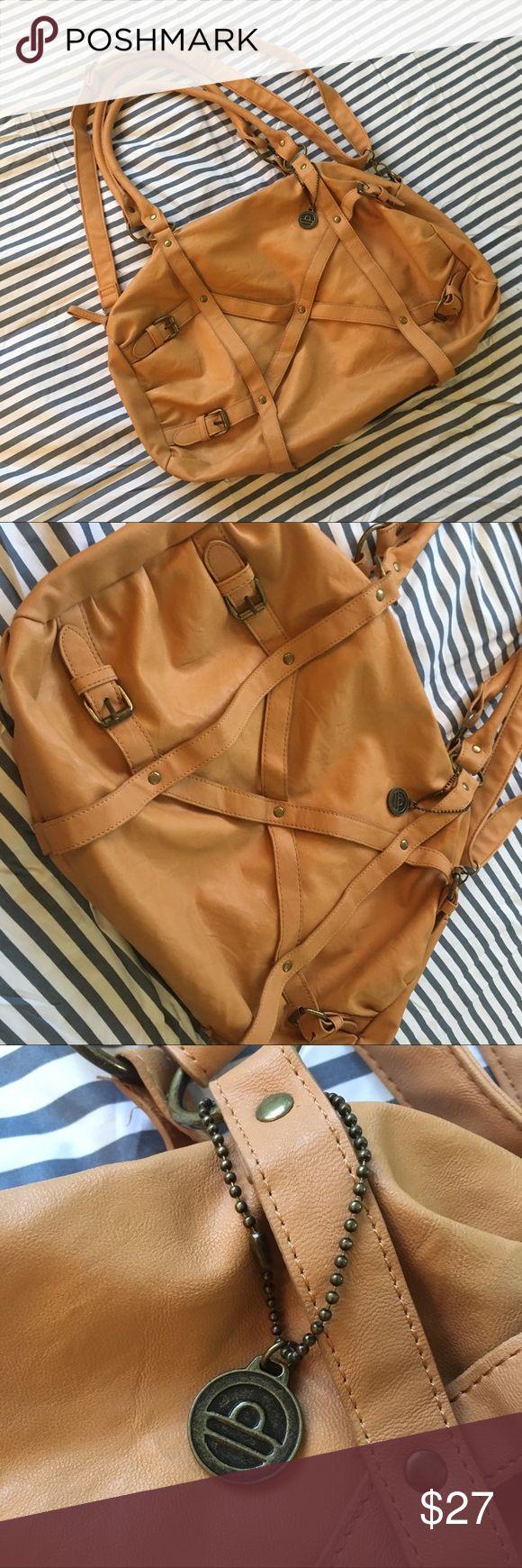 Big Buddha bag Camel color with a long shoulder strap and short shoulder straps. Worn once! Big Buddha Bags