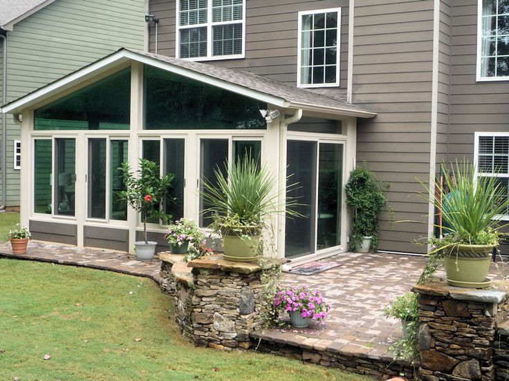 10 best images about porch designs on pinterest storm for Sunroom and patio designs