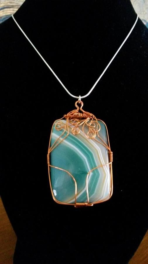 Green Agate Necklace by BDBD Bead Designs by Debbie