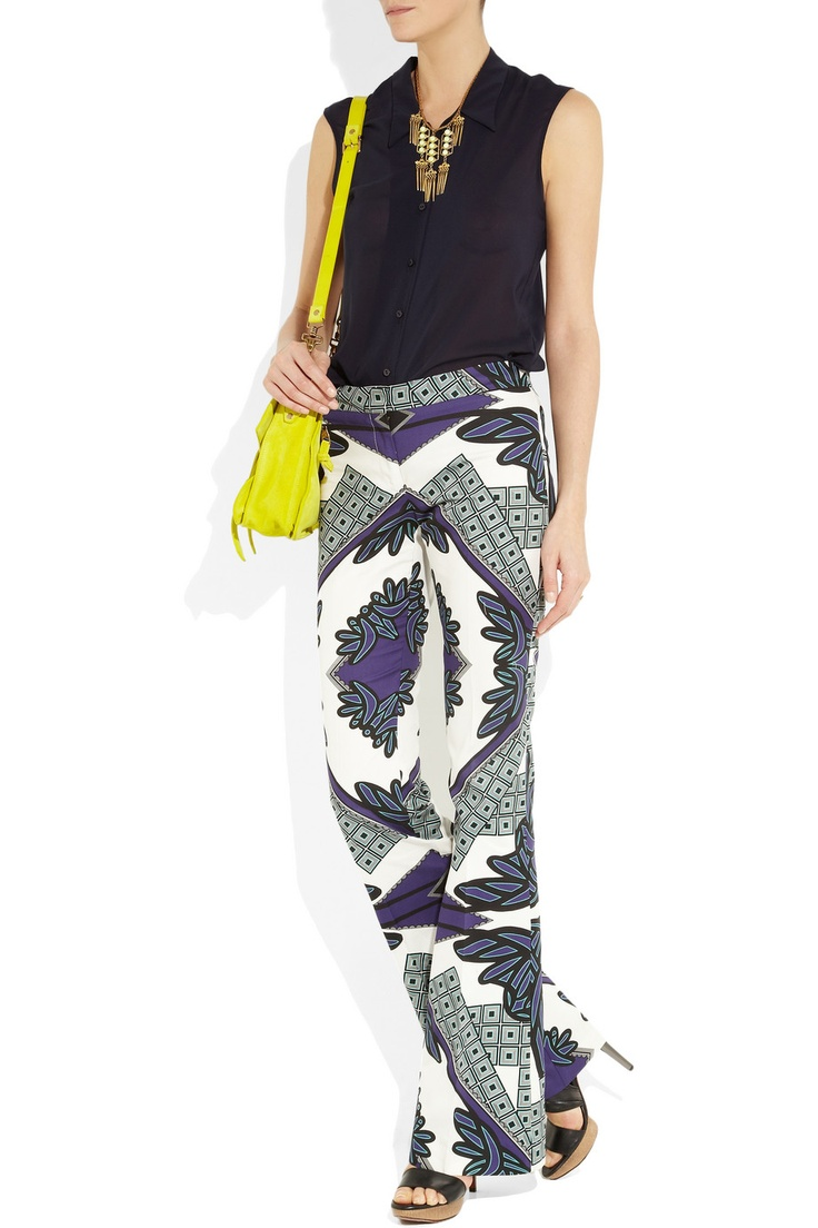 Black & White with a splash of color: Kaleidoscopes Prints, Flare Pants, Cottonsateen Flare, Derek Lamb, Prints Pants, Hot Pants, Funky Pants, Cotton Sateen Flare, Kaleidoscopeprint Cottonsateen
