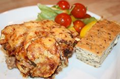 Enkel och god gratäng med köttfärs, champinjoner och zucchini! - Alla goda ting