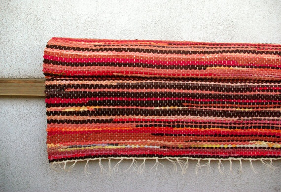 Large rug  515' x 1024'  orange red by dodres on Etsy, $255.00