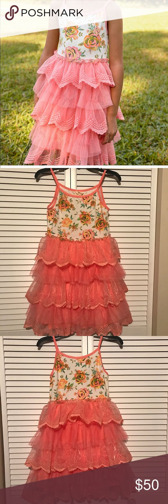 """Matilda Jane Dress Girls Matilda Jane Dress Size: 14 This Dress is Very Full At The Bottom... My Daughter Calls This a """" Twirl"""" Dress 😀 This Would Make A Wonderful Holiday Dress, Just Throw a Cardigan on If Its Cold!  Comes From A Smoke and Pet Free Home Matilda Jane Dresses Formal"""