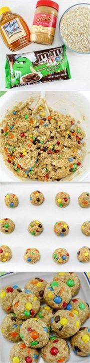 No Bake Monster Cook No Bake Monster Cookie Oatmeal Balls - the...  No Bake Monster Cook No Bake Monster Cookie Oatmeal Balls - the perfect after school snack Recipe : http://ift.tt/1hGiZgA And @ItsNutella  http://ift.tt/2v8iUYW