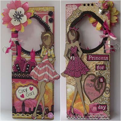 prima mixed media dolls | Feel: Prima Doll Hangdoor - Colgador de puerta para chicas