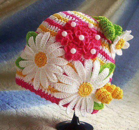 Mor Fikirler *: Crochet Cap, Crafts Ideas, Crochet Projects, De Color, Crochet Hats, Quaver, Crochet Patterns, Crochey Hats, Bags