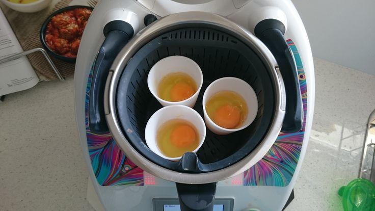 Basket/Varoma Steamed Breakfast Eggs