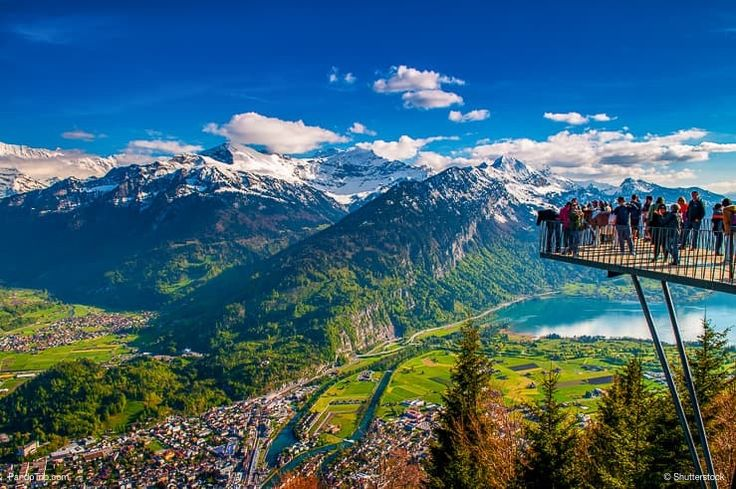 Viewpoint At Harder Kulm In Interlaken Bern Switzerland Cool Places To Visit Places To Visit Places To Go