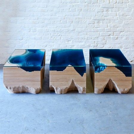 Best Epoxy Images On Pinterest Wood Epoxy Table Top And Tables - Incredible layered glass table mimics oceans depths