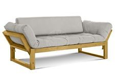 Schlafsofa Gästebett Futonsofa Edge V4 mit Futon Comfort Plus