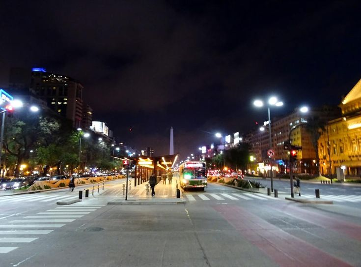 Avenida 9 Julio, Buenos Aires, Teatro Colon - Night Time  by A Place to Retire