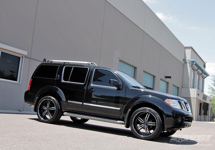 "2011 Nissan Pathfinder with 22"" MKW M105"