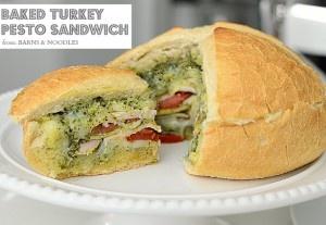 Baked Turkey Pesto Sandwich Recipe