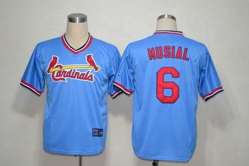 b9e1b490726 ... Mitchell And Ness Cardinals 6 Stan Musial Light Blue Throwback  Embroidered MLB Jersey ...
