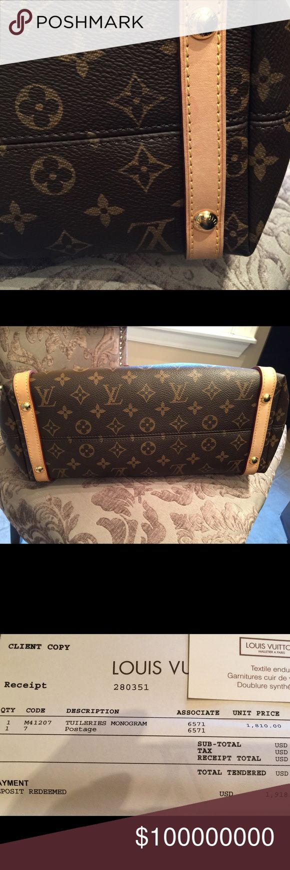 Additional photos for Authentic Louis Vuitton  Additional photos for Louis Vuitton Tuileries tote bag. Bags Shoulder Bags