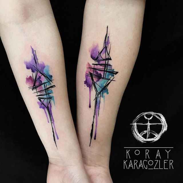 15 Artists Of Watercolor Tattoo Abstract Tattoo Watercolor Abstract Tattoo Forearm Tattoos